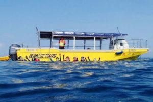 宮古島のグラスボートとシュノーケリング