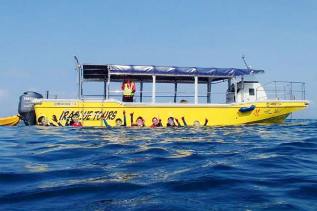 グラスボートとシュノーケリング