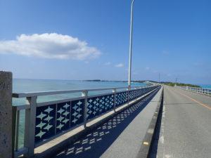 宮古島の観光スポットの池間大橋