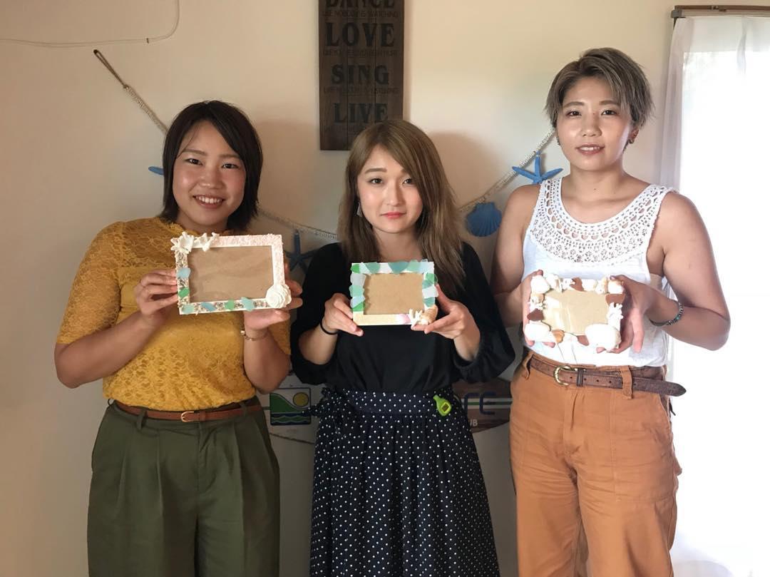 宮古島の体験のフォトフレーム作り