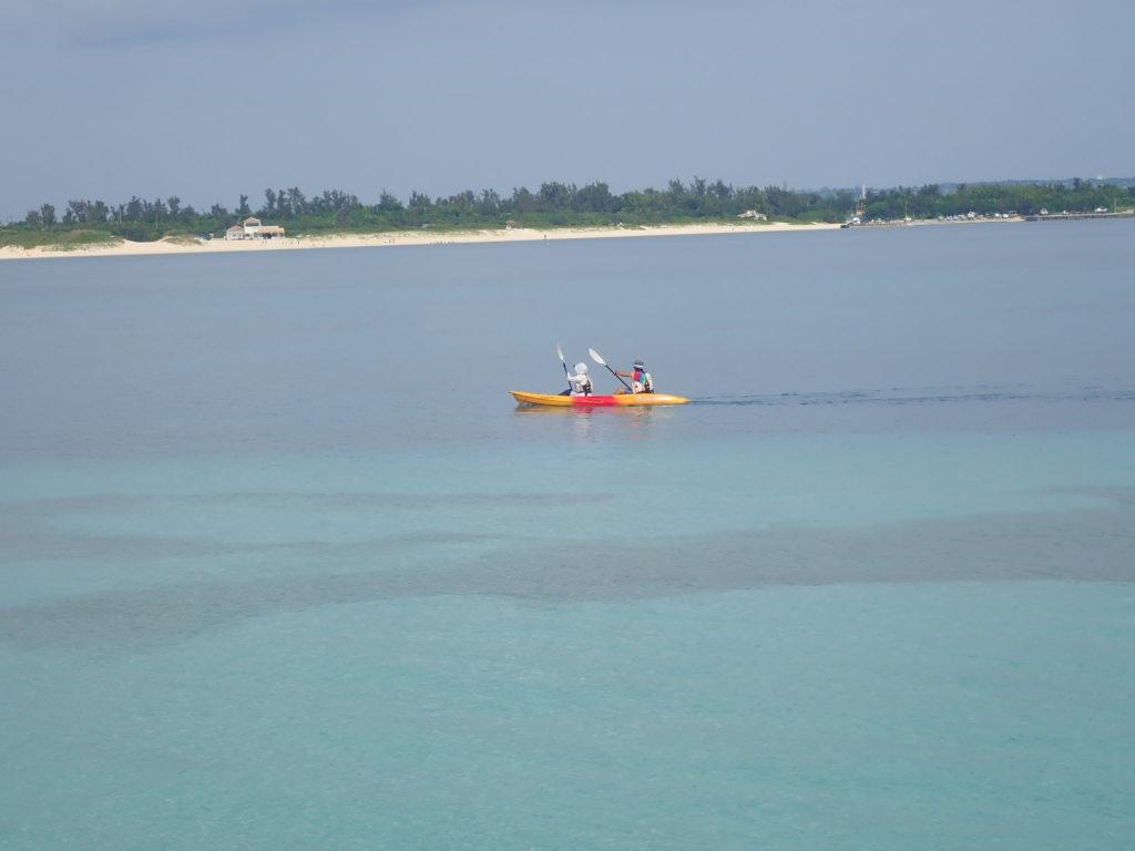 宮古島の観光スポットの長間浜ビーチ