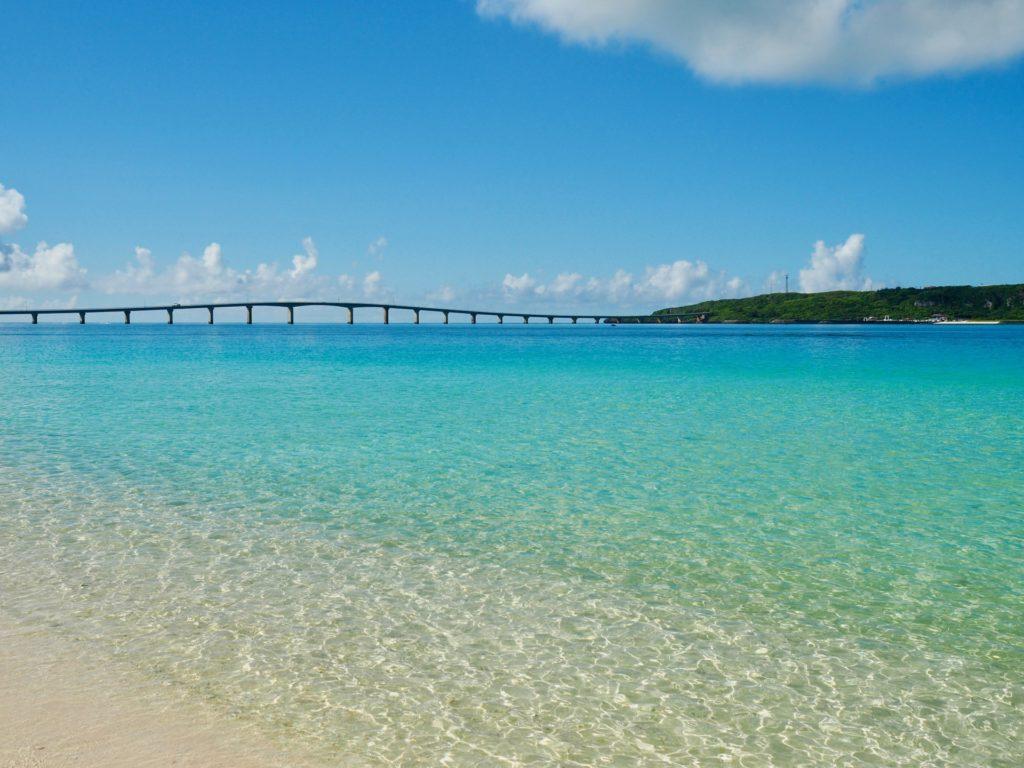 宮古島の観光スポットの与那覇前浜ビーチ