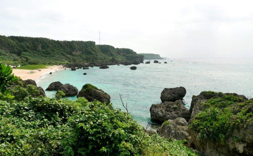 宮古島の観光スポットの保良川(保良泉)ビーチ