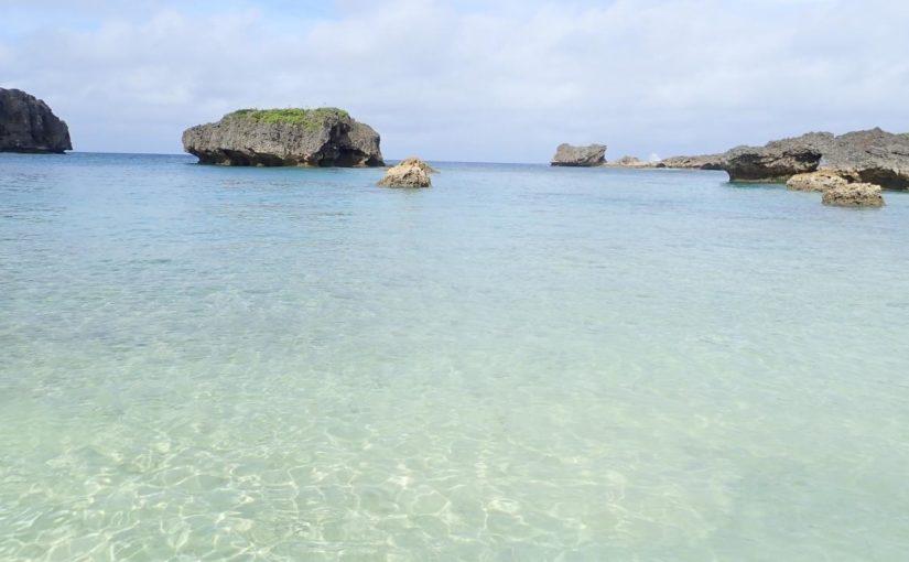 下地島の観光スポットの中の島海岸 (カヤッファ