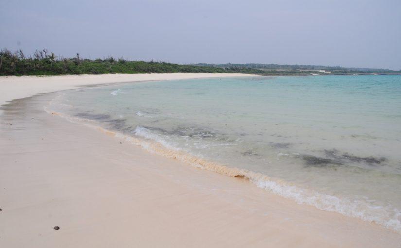 伊良部島の観光スポットの渡口の浜