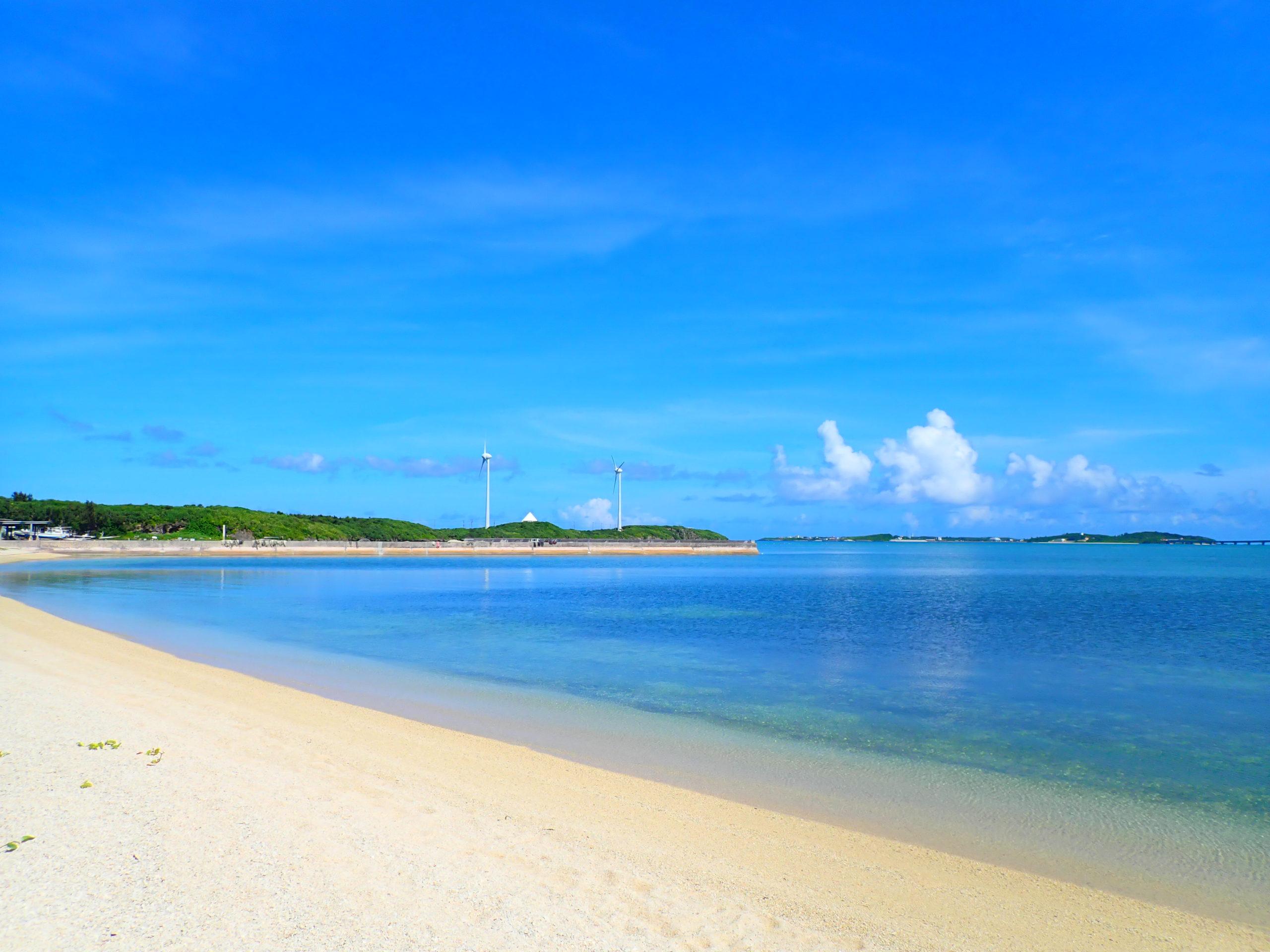 宮古島の西の浜ビーチ