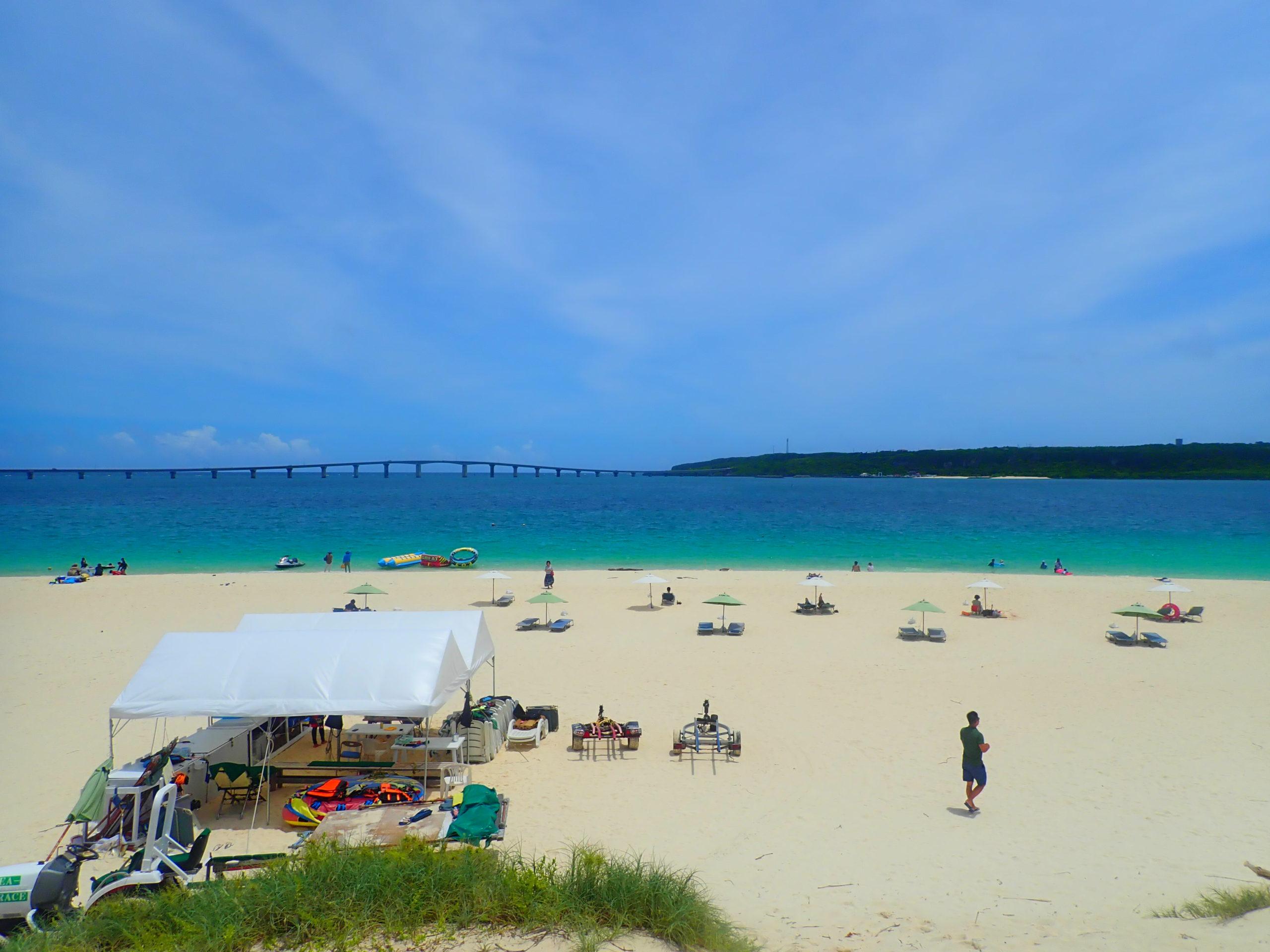 宮古島の与那覇前浜ビーチ