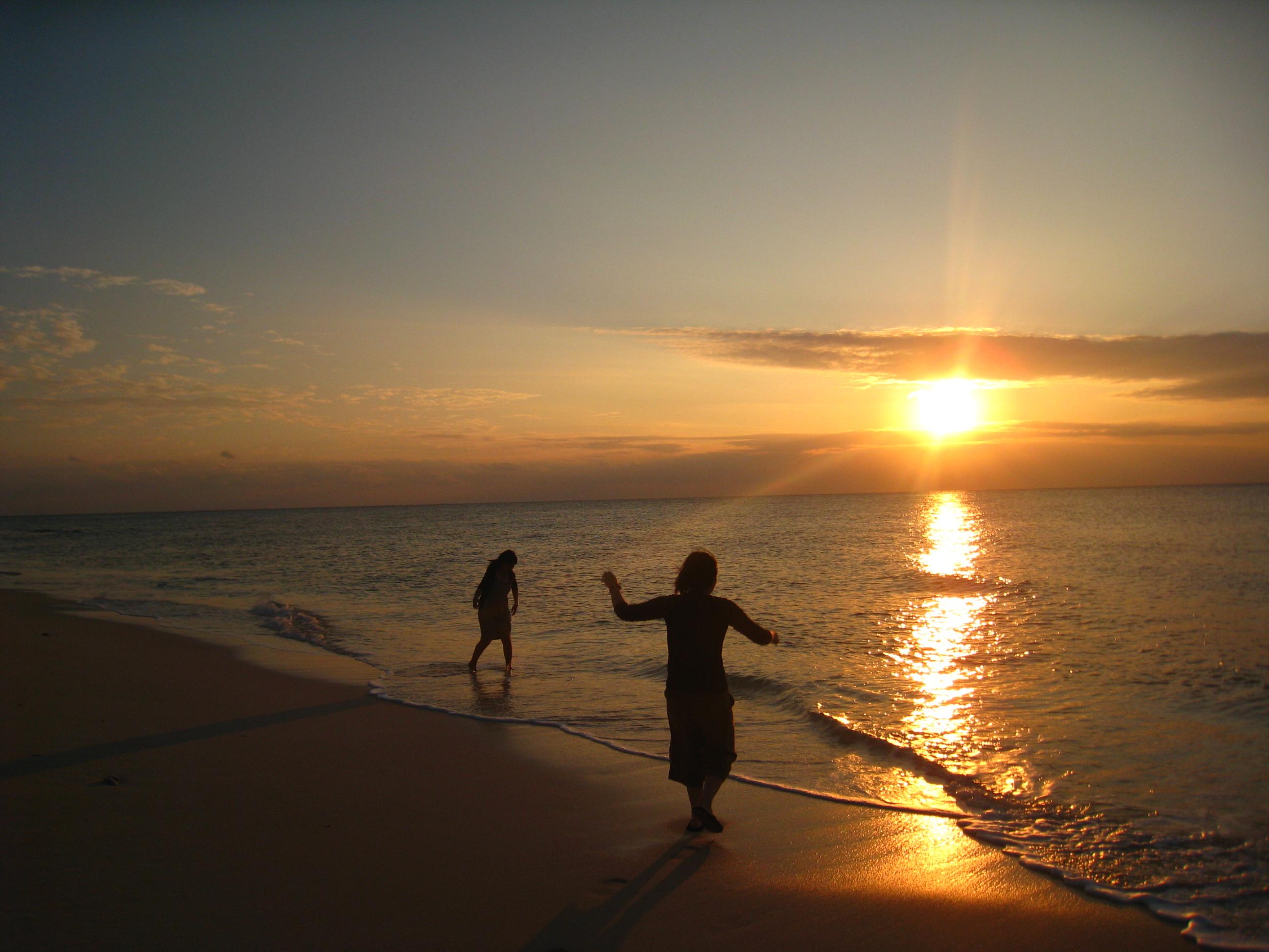 長間浜の夕焼け