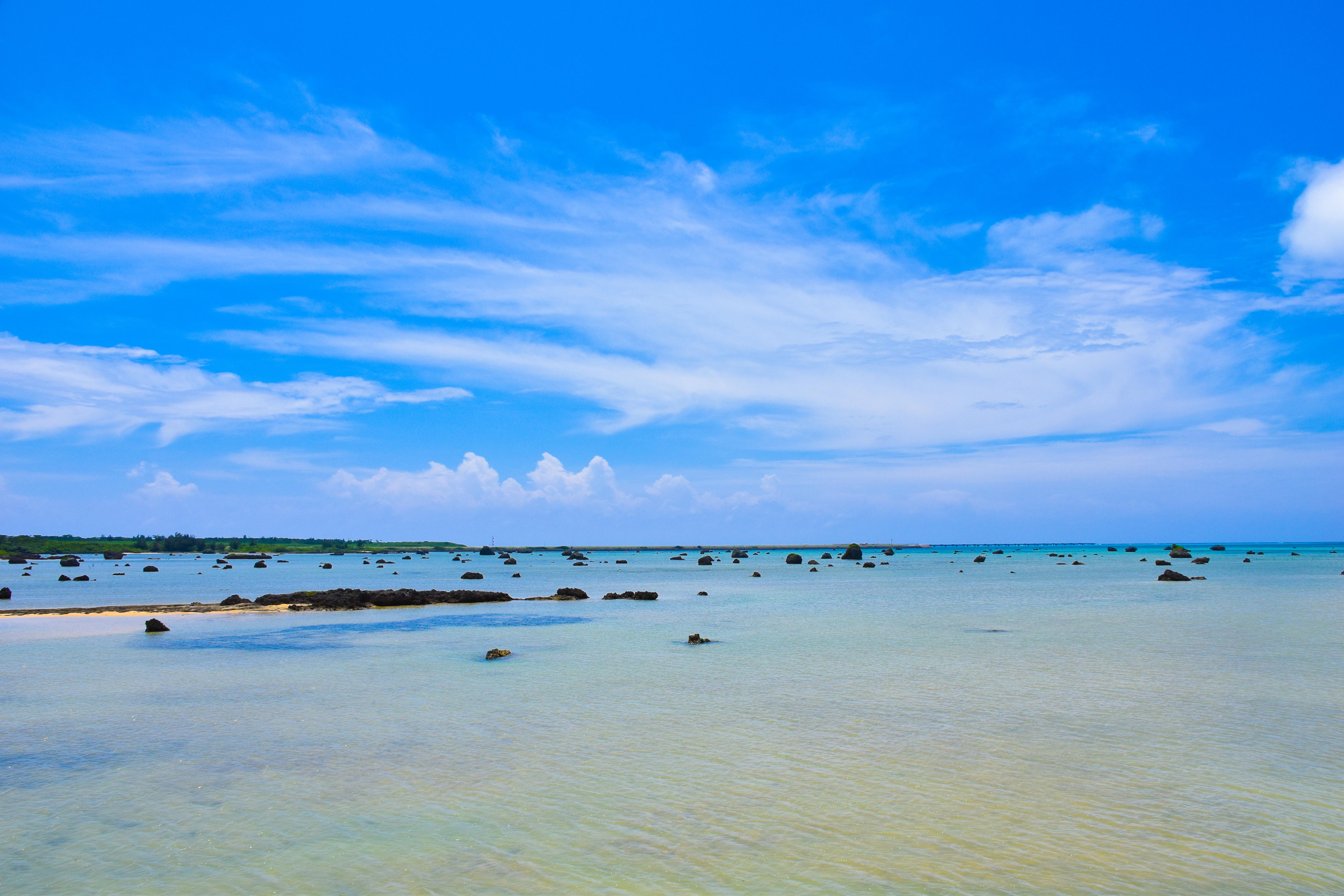 宮古島のシュノーケリングの佐和田の浜