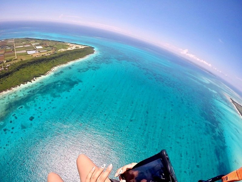 上空からスマホで撮影