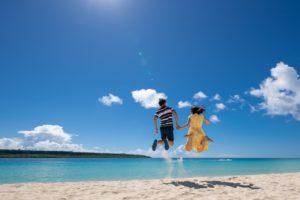 東洋一の前浜ビーチで記念撮影