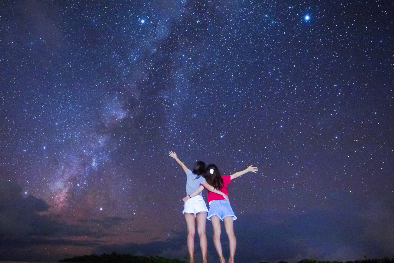 宮古島の満天の星空の中フォトツアー