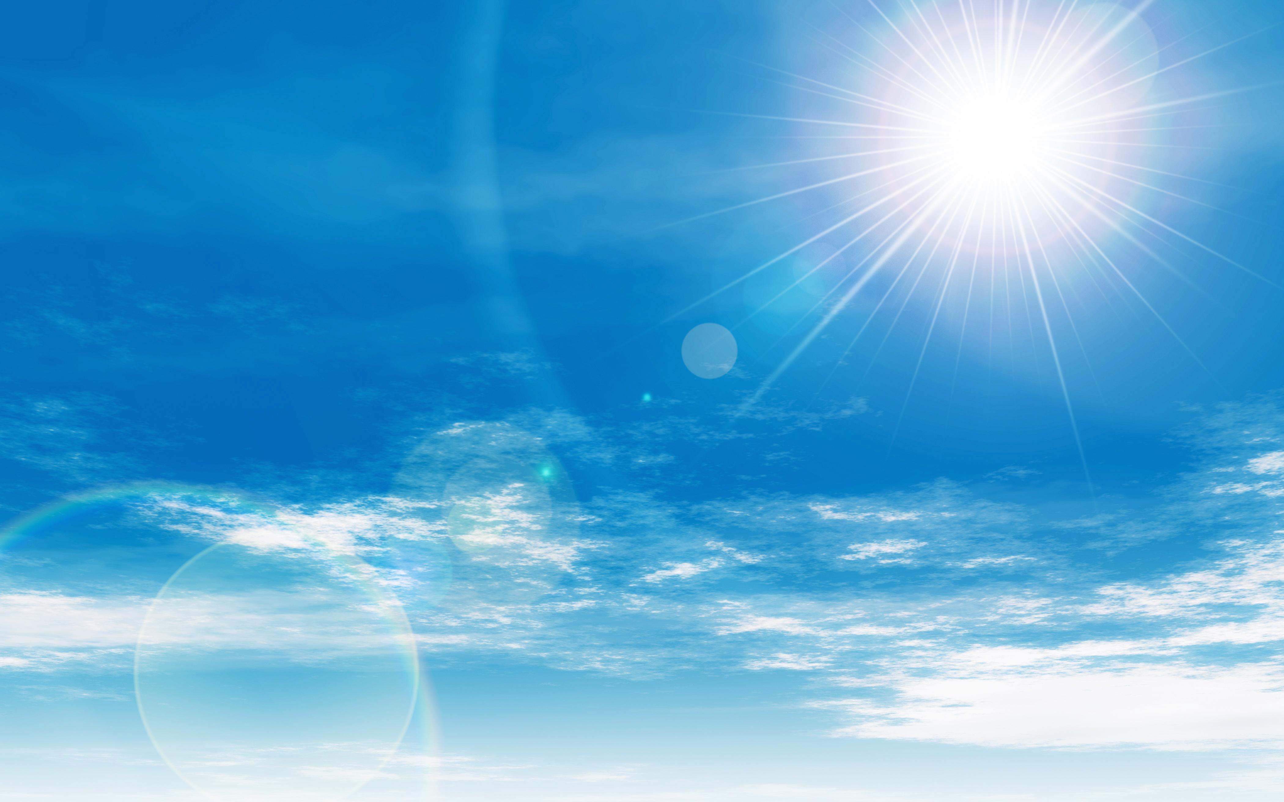 夏の宮古島の太陽