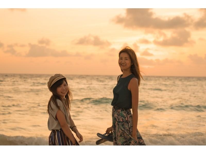前浜ビーチで女子旅フォトツアー