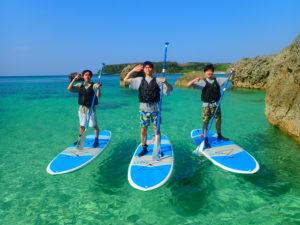 宮古島の団体ツアーとSUP体験