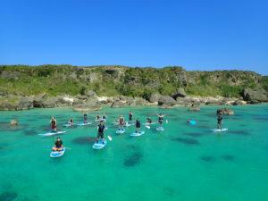 社員旅行に宮古島の海でSUP体験