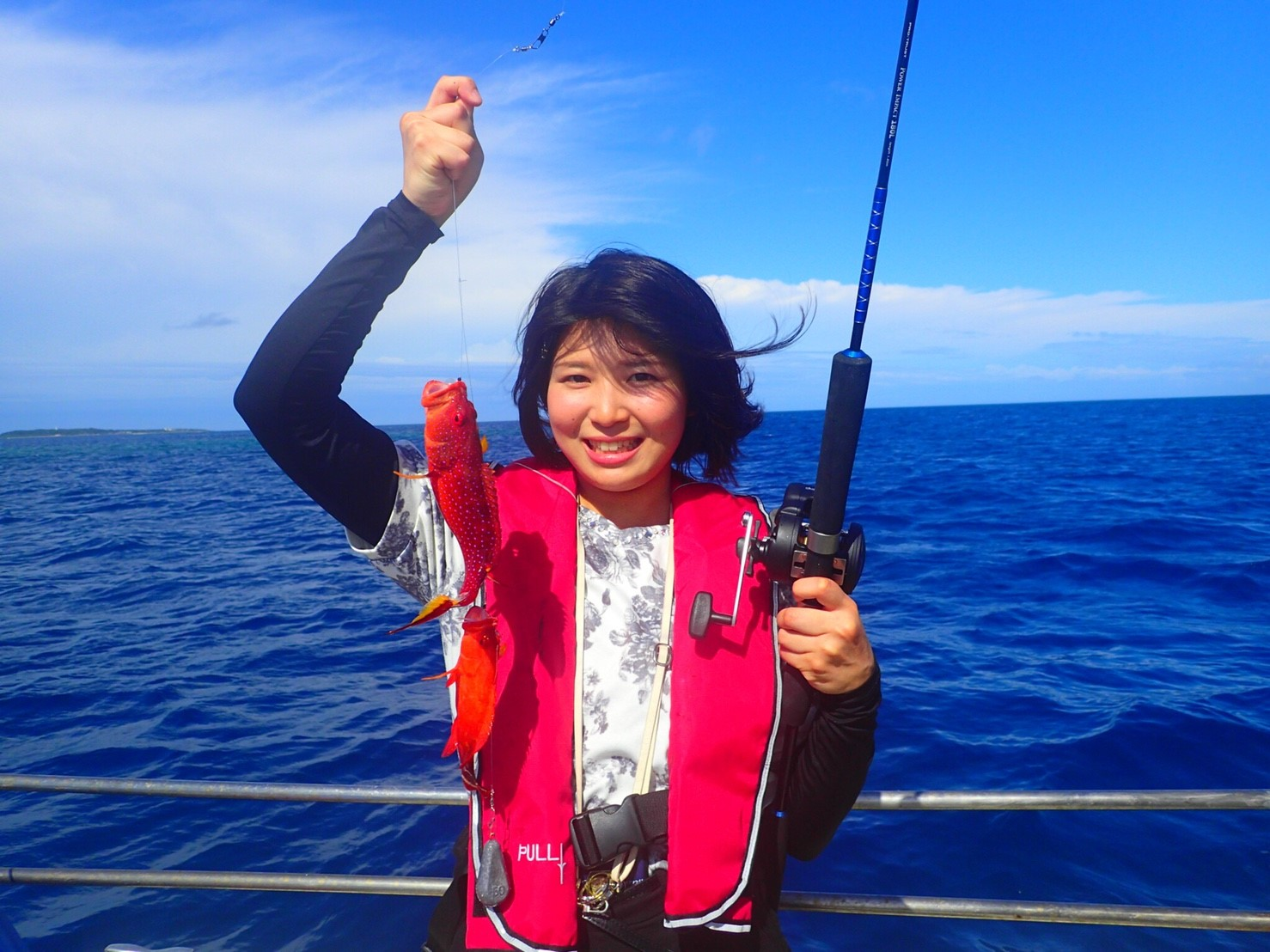 女子旅で釣りを体験