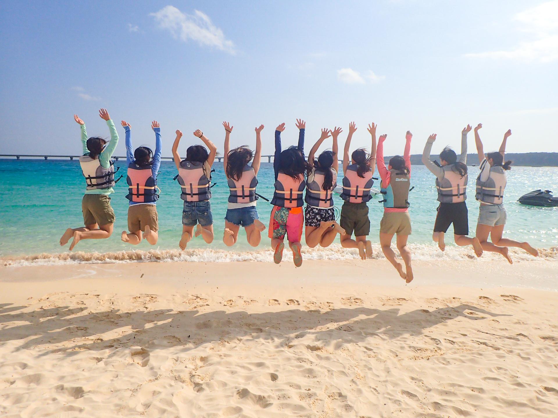 宮古島の団体ツアーの前浜ビーチ