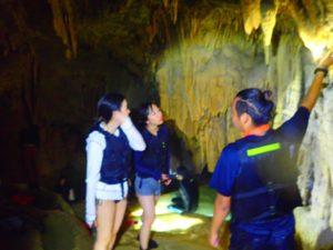 宮古島の鍾乳洞探検