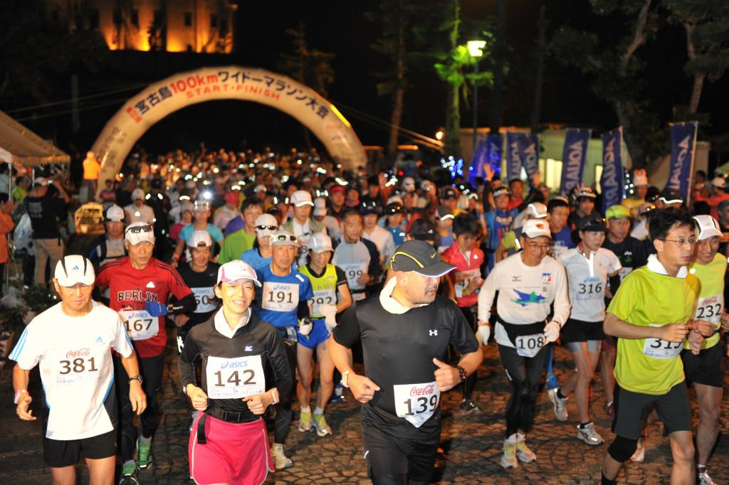 宮古島の一月の宮古島100kmワイドーマラソン