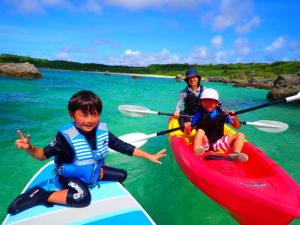 宮古島ビーチSUP、家族で、子連れで