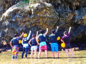 宮古島パンプキン鍾乳洞、団体で