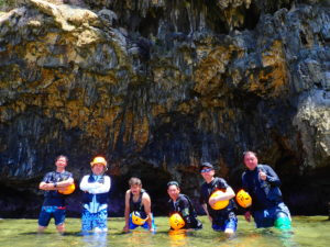 宮古島パンプキン鍾乳洞、ケイビング、団体、